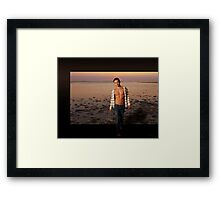 Stepping Outside - gay male art Framed Print