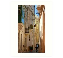 Maltese Streetscape Art Print