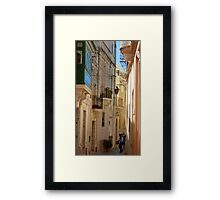 Maltese Streetscape Framed Print