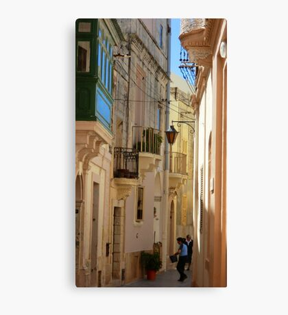 Maltese Streetscape Canvas Print