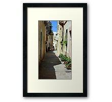 Malta Streetscape Two Framed Print