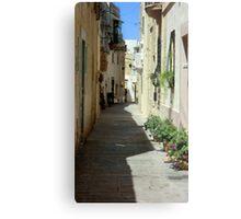 Malta Streetscape Two Metal Print