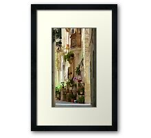Malta Streetscape Framed Print