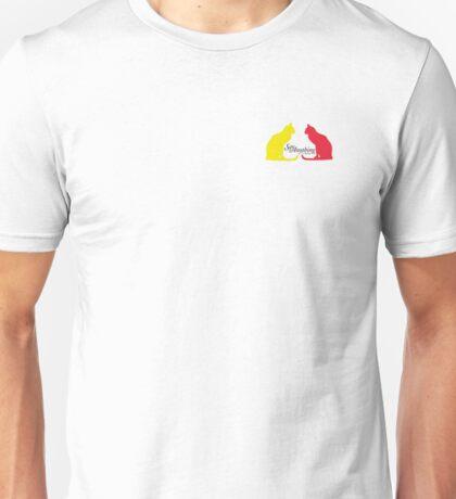 Yellow Cat Slash Red Cat Unisex T-Shirt