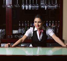 Beautiful bartender by seringeorge