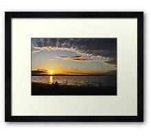 Rhode Island Sunset Framed Print