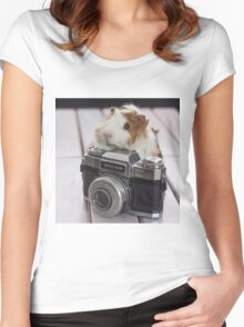 Guinea photographer Women's Fitted Scoop T-Shirt