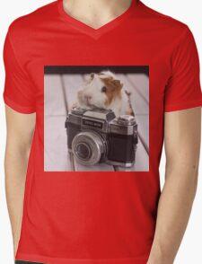 Guinea photographer Mens V-Neck T-Shirt