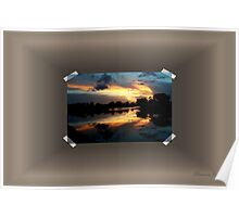 Surreal Perfection ~ Sunset Reflection Poster