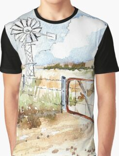 A windpomp and a gate Graphic T-Shirt