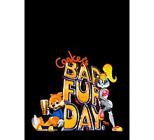 Conker's Bad Fur Day N64 Retro nintendo game fan shirt Photographic Print