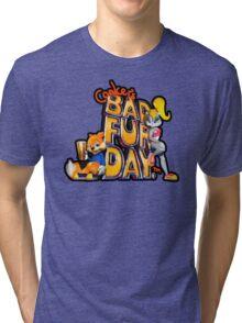 Conker's Bad Fur Day N64 Retro nintendo game fan shirt Tri-blend T-Shirt