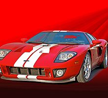 2011 Ford GT 'Seeing Red' by DaveKoontz