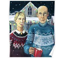 American winter - Grant Wood parody Poster