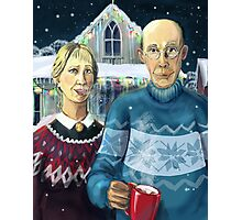 American winter - Grant Wood parody Photographic Print