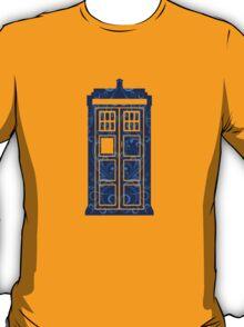 Blue Filigree TARDIS T-Shirt