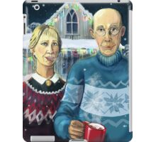 American winter - Grant Wood parody iPad Case/Skin
