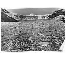 Grizzled Glacier in grey Poster