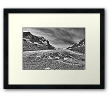 Athabasca Glacier in Black and White Framed Print