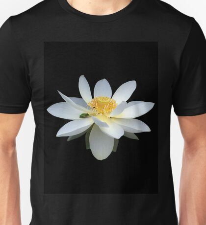 White Lotus Flower Frog and Native Bee Unisex T-Shirt