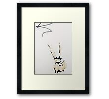 Throw Up The Peace Sign. Framed Print