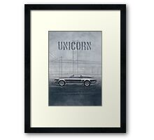 Ford Mustang Eleanor Unicorn Movie Inspired Muscle Car Framed Print