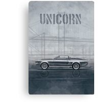 Ford Mustang Eleanor Unicorn Movie Inspired Muscle Car Canvas Print