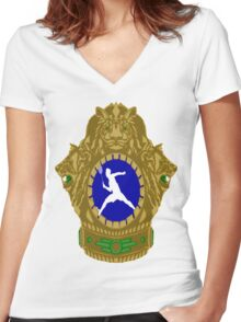 Indian Badminton Women's Fitted V-Neck T-Shirt