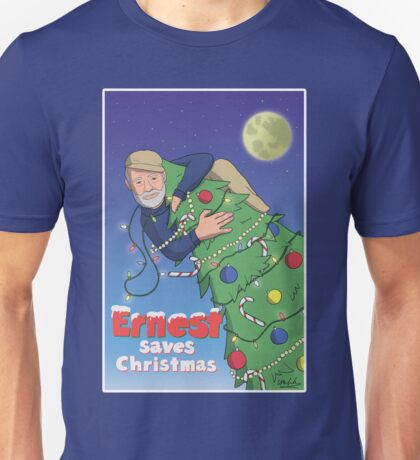 Ernest (Hemingway) Saves Christmas Unisex T-Shirt