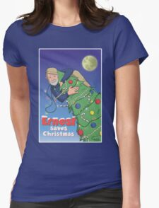 Ernest (Hemingway) Saves Christmas Womens Fitted T-Shirt