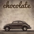 Chocolate - Volkswagen Beetle - Vintage VW Bug by merhab