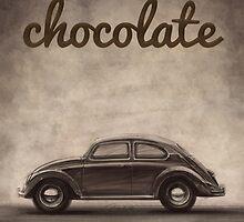 Chocolate - Volkswagen Beetle - Vintage VW Bug by merhab