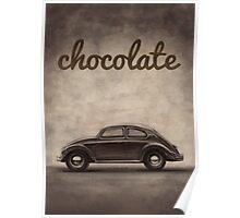 Chocolate - Volkswagen Beetle - Vintage VW Bug Poster