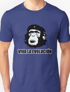 Viva La Evolucion Funny Chimp Che T-Shirt