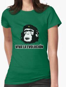 Viva La Evolucion Funny Chimp Che Womens Fitted T-Shirt