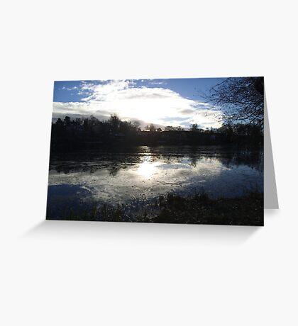 Neighborhood Lake in Nacka Greeting Card