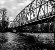 Steel Bridge Over The Skagit River by Ian Phares
