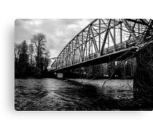 Steel Bridge Over The Skagit River Canvas Print