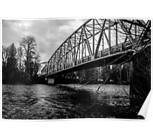 Steel Bridge Over The Skagit River Poster