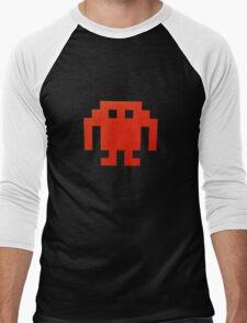 funny space invader Men's Baseball ¾ T-Shirt