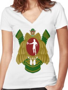 Iranian Tennis Women's Fitted V-Neck T-Shirt