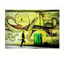 Mothership Octopus Art Print
