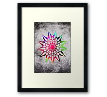 Colorful Trippy Star T-Shirt Framed Print