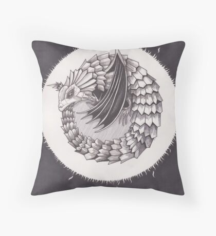 The Sun is the Dragon's Egg Throw Pillow