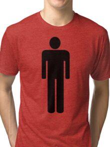 man silhouette toilet style Tri-blend T-Shirt