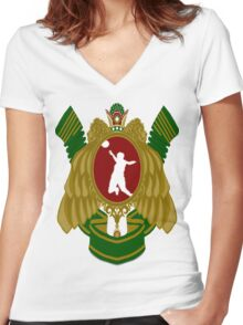 Iranian Volleyball Women's Fitted V-Neck T-Shirt