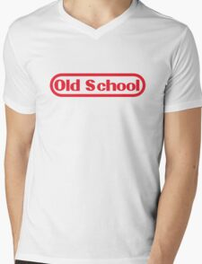 Old School Gamer Mens V-Neck T-Shirt