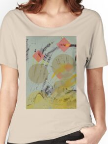 Red diamond autumn abstract. Women's Relaxed Fit T-Shirt