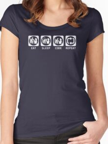 Eat Sleep Code Repeat T-shirt & Hoodie Women's Fitted Scoop T-Shirt