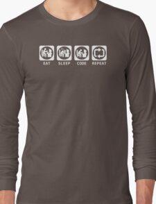 Eat Sleep Code Repeat T-shirt & Hoodie Long Sleeve T-Shirt